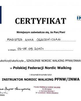uzyskanie tytułu Instruktora Nordic Walking PFNW INWA